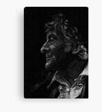 Jon Pertwee, the third Doctor Canvas Print