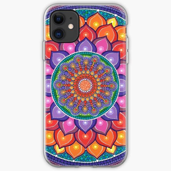 Lotus Rainbow Mandala iPhone Soft Case