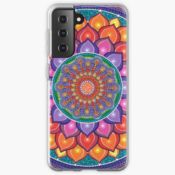Lotus Rainbow Mandala Samsung Galaxy Soft Case