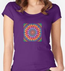 Lotus Rainbow Mandala Women's Fitted Scoop T-Shirt