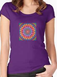 Lotus Rainbow Mandala Women's Fitted Scoop T-Shirt