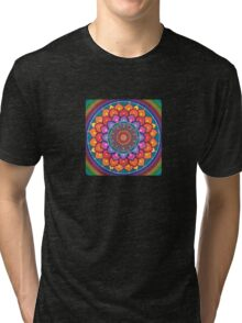 Lotus Rainbow Mandala Tri-blend T-Shirt