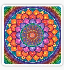 Lotus Rainbow Mandala Sticker