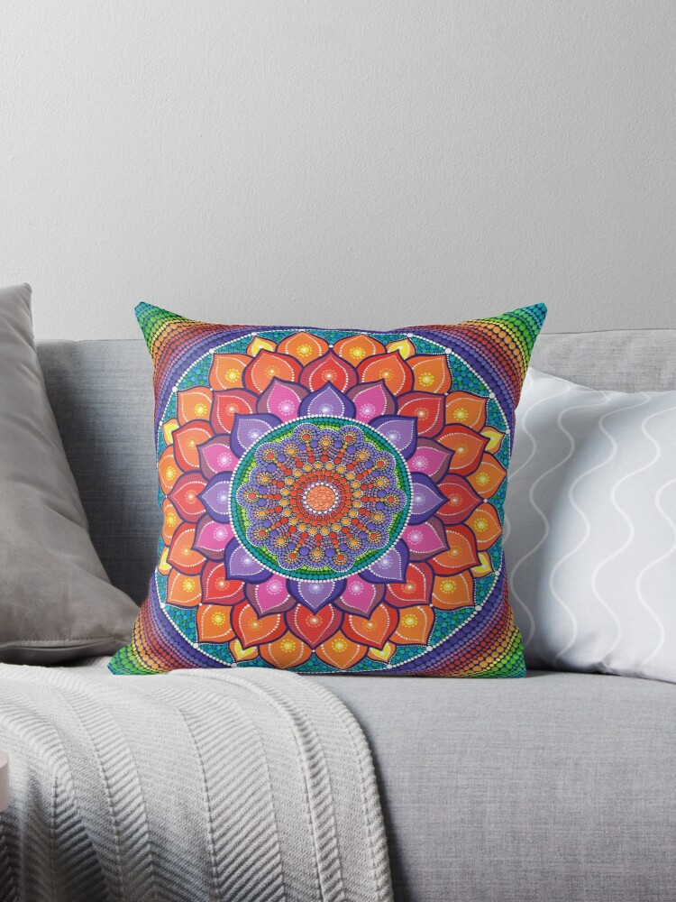 Lotus Rainbow Mandala by Elspeth McLean