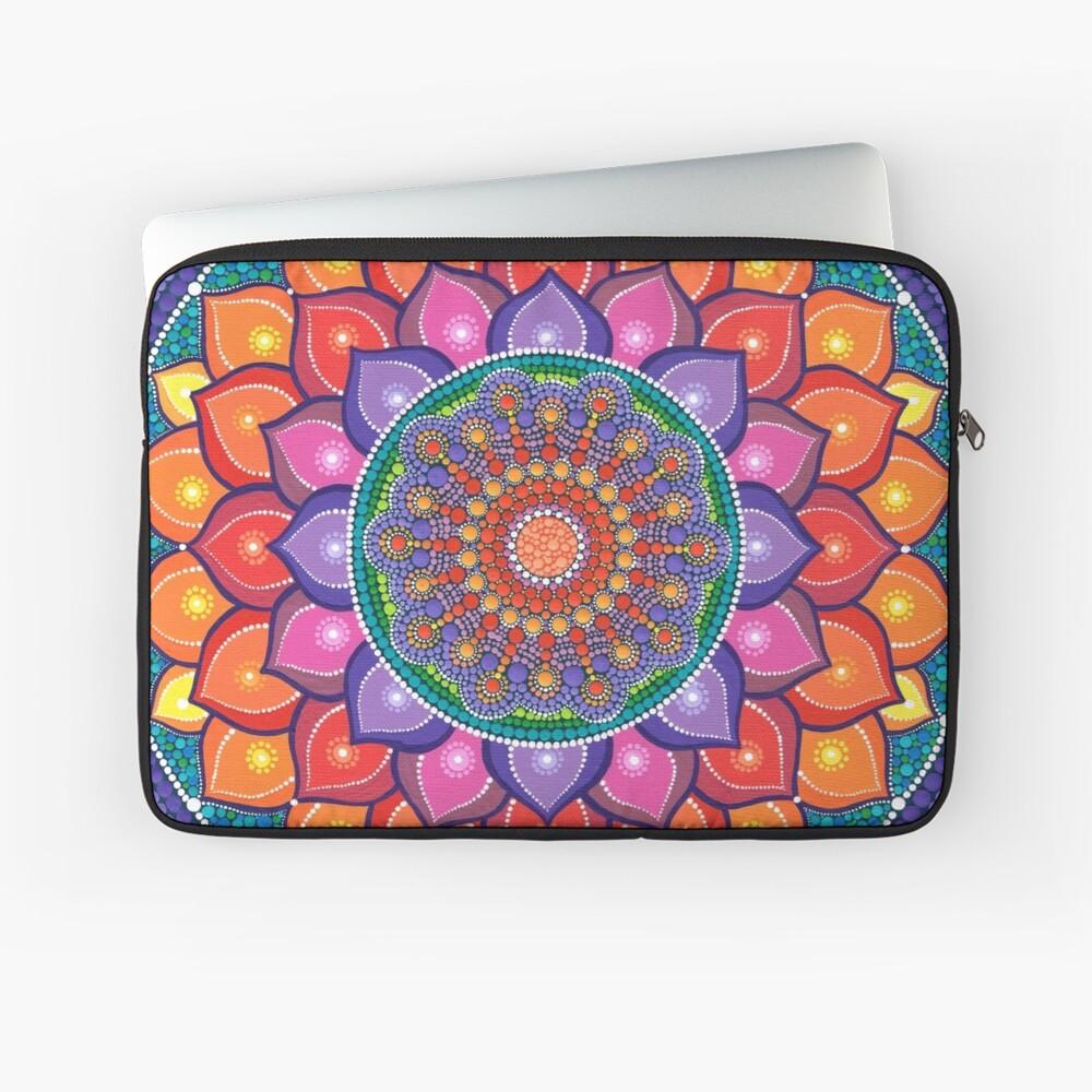 Lotus Rainbow Mandala Laptop Sleeve