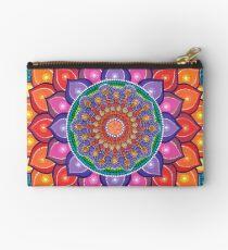 Lotus Rainbow Mandala Studio Pouch