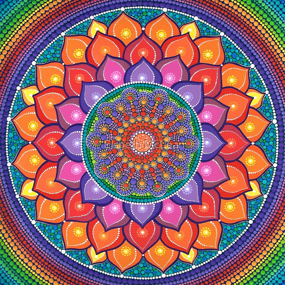 Quot Lotus Rainbow Mandala Quot By Elspeth Mclean Redbubble