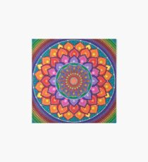 Lotus Rainbow Mandala Art Board