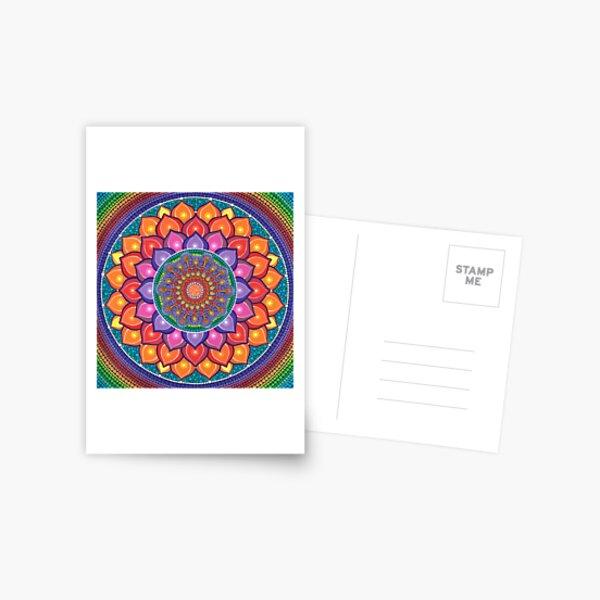 Lotus Rainbow Mandala Postcard