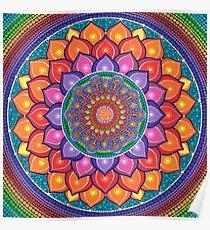 Lotus Rainbow Mandala Poster