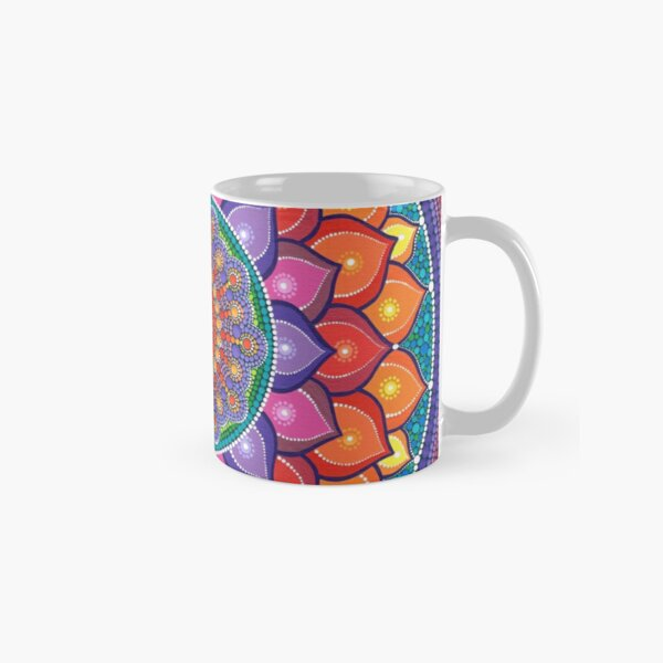 Lotus Rainbow Mandala Classic Mug