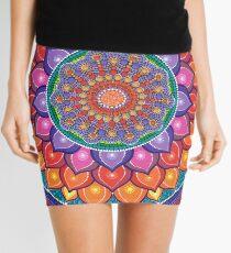 Lotus Rainbow Mandala Mini Skirt