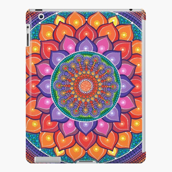 Lotus Rainbow Mandala iPad Snap Case