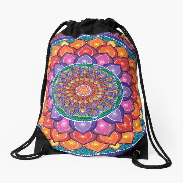 Lotus Rainbow Mandala Sac à cordon