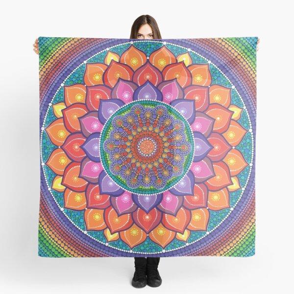 Lotus Regenbogen Mandala Tuch
