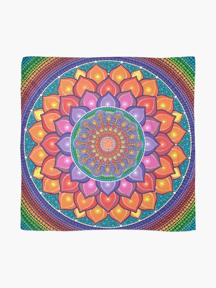 Alternate view of Lotus Rainbow Mandala Scarf