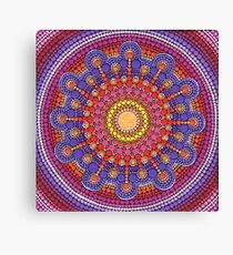 Jewel Drop Mandala Canvas Print