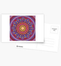 Jewel Drop Mandala Postcards