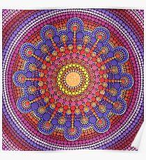 Jewel Drop Mandala Poster