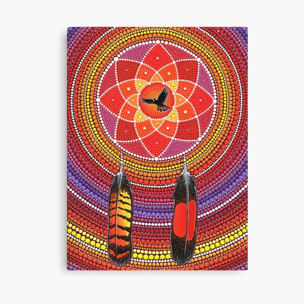 Red Tailed Black Cockatoo Dreamcatcher Canvas Print