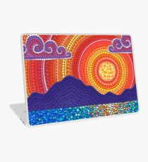 Elegant Sunset over Mountains Laptop Folie