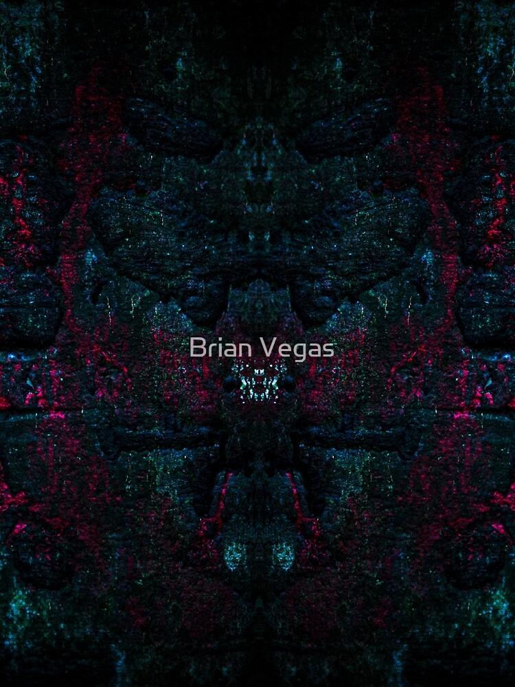 Red splash on dark wood by BrianVegas