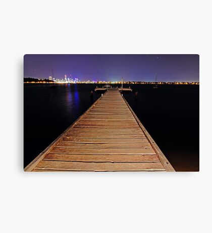 Pelican Point Jetty At Night  Canvas Print