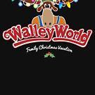 Walleyworld - Weihnachtsferien schwarz von Candywrap Design