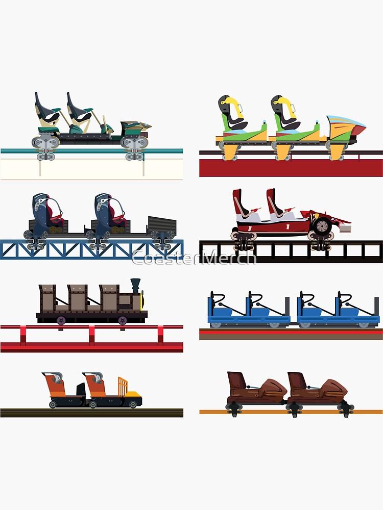 PortAventura Coaster Cars Design - Ferrari Land and Port Aventura by CoasterMerch
