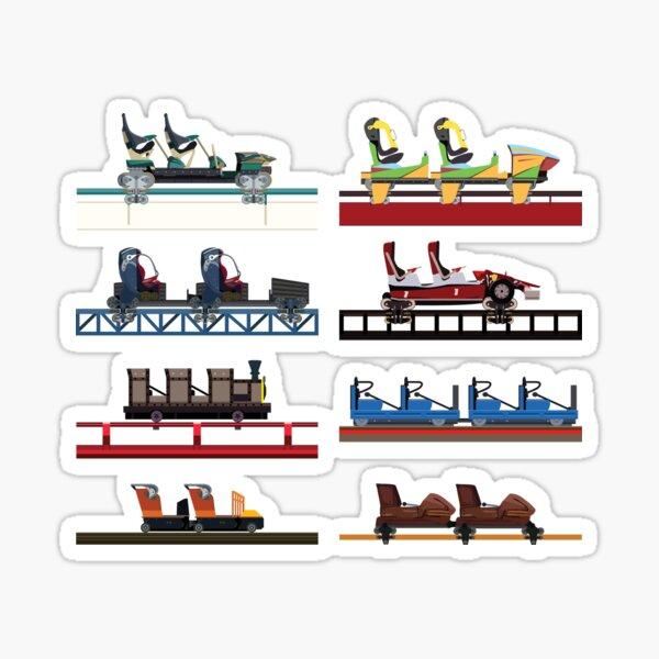 PortAventura Coaster Cars Design - Ferrari Land and Port Aventura Sticker