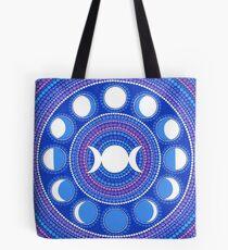 Moon Cycle Mandala Tote Bag