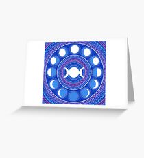 Moon Cycle Mandala Greeting Card