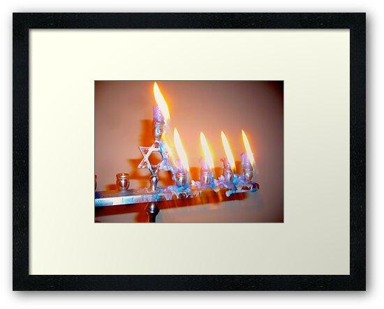 Hanukkah Candles Glow by Jonathan  Green