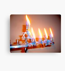 Hanukkah Candles Glow Canvas Print