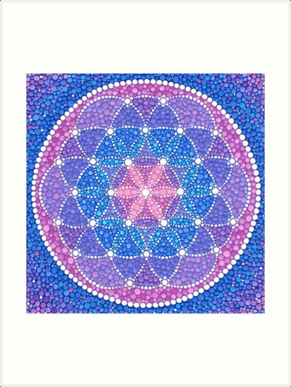 Starry Flower of Life by Elspeth McLean