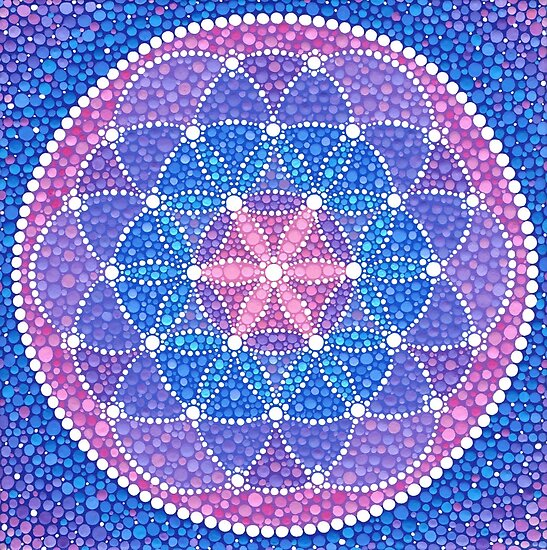 Starry Flower of Life von Elspeth McLean