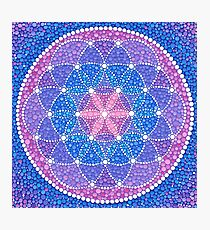 Starry Flower of Life Photographic Print
