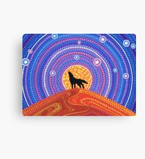 Night of the Wandering Wolf Canvas Print