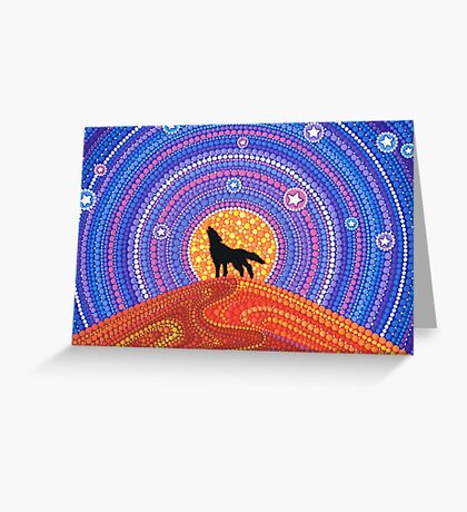 Night of the Wandering Wolf Greeting Card