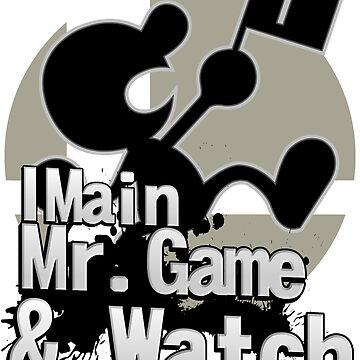 I Main Mr. Game & Watch - Super Smash Bros. Ultimate by PrincessCatanna