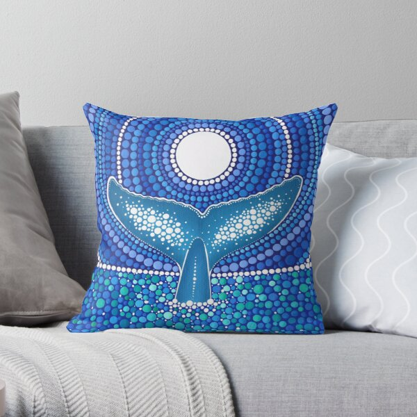 Whale of a Tale Throw Pillow