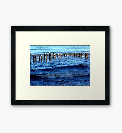 Sandsend  Sea Defence Framed Print