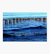 Sandsend  Sea Defence Photographic Print