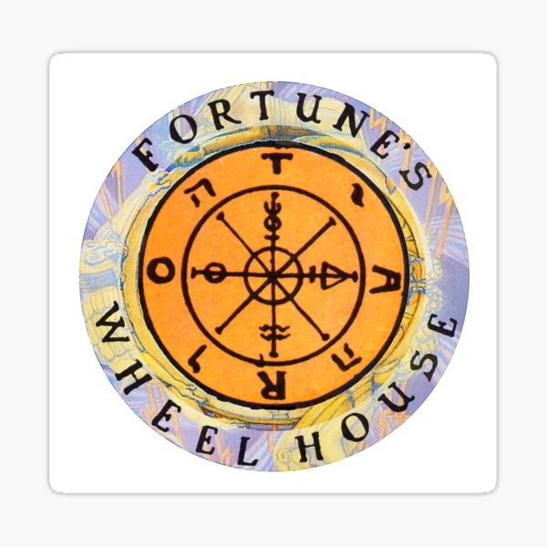 Fortune's Wheelhouse logo on white Sticker