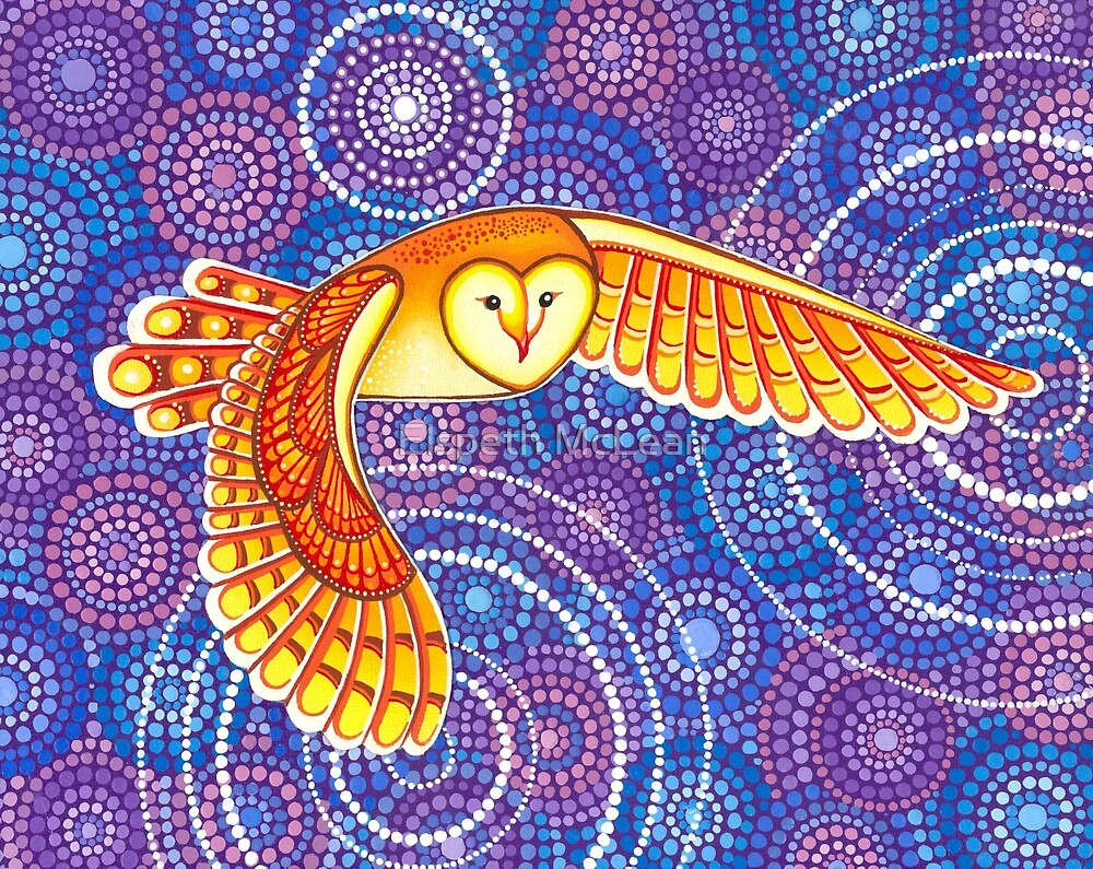 Quot Owl Pulsating Magic Quot By Elspeth Mclean Redbubble