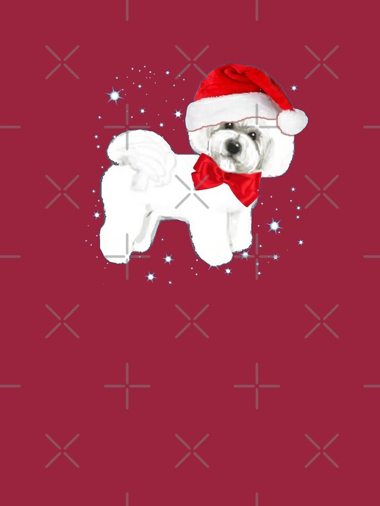 Bichon Frise Santa Hat by MagentaRose