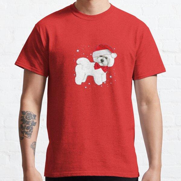 Bichon Frise Santa Hat Classic T-Shirt