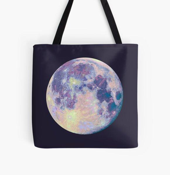 Moon All Over Print Tote Bag