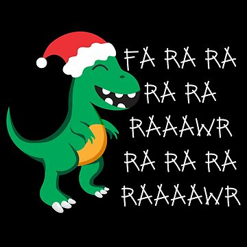 Dinosaur T-Rex Dino Christmas Gift Idea by KingCreative