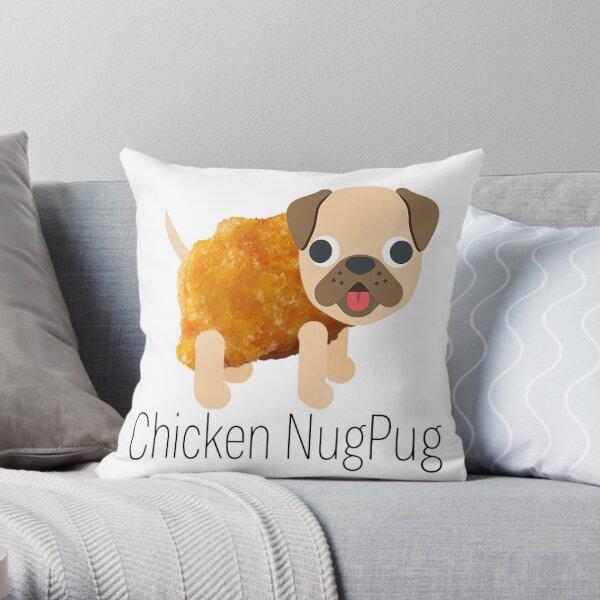 Chicken NugPug - Pug Chicken Nugget Throw Pillow